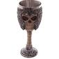 Gotycki kielich czaszka w hełmie