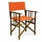 Krzesło drewniane - fotel składany - pomarańczowe