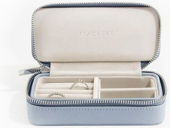 Pudełko podróżne na biżuterię travel medium stackers dusky blue
