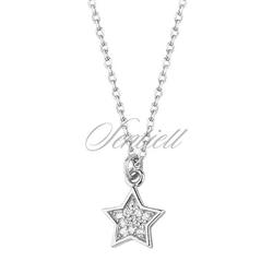 Srebrny naszyjnik celebrytek pr.925 gwiazdka z cyrkoniami