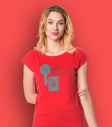 Keep smiling t-shirt damski czerwony xxl