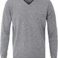 Sweter  pulower v-neck z wełny z merynosów szary l