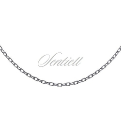 Łańcuszek srebrny 925 rolo diamentowany, oksydowany - oksydowanie  1,4 mm