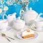 Zestaw kawowy dla 6 osób porcelana mariapaula biała 21 elementów