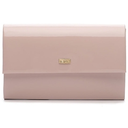 Kopertówka damska felice f13 lakier różowa - kolorowy