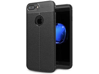Etui pancerne alogy leather iphone 78 plus czarne + szkło