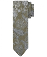 Zielony krawat profuomo paisley