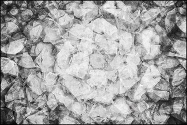 Kalejdoskop abstrakcji black - plakat premium wymiar do wyboru: 100x70 cm
