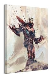 Avengers: infinity war iron man sketch - obraz na płótnie