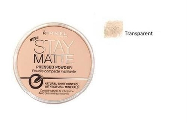 Rimmel london stay matte long lasting pressed powder puder prasowany dla kobiet 14g 001 transparent