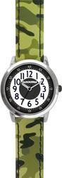 Świecący zegarek chłopięcy zielony clockodile army z wzorem kamuflażu