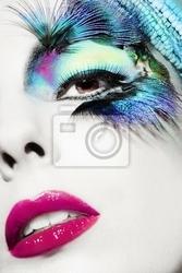 Obraz piękna kobieta twarz z doskonałym makijażu
