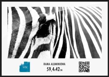 Czarna rama aluminiowa 59,4x42 cm