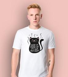 Smelly cat t-shirt męski biały l