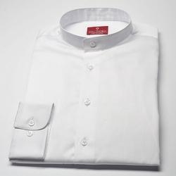 Elegancka biała koszula męska van thorn slim fit ze stójką 44
