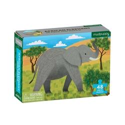 Mini puzzle mudpuppy - słoń afrykański 48 elem.