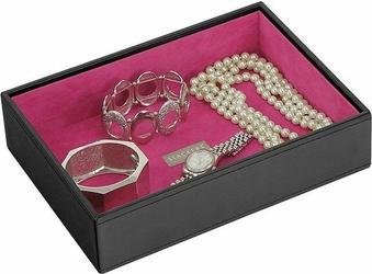 Pudełko na biżuterię open classic Stackers czarno-fuksjowe