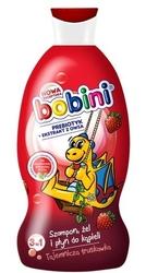 Bobini, tajemnicza truskawka, szampon, żel i płyn do kąpieli, 330 ml