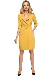 Żółta sukienka szmizjerka mini
