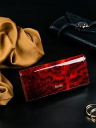 Portfel damski skórzany rfid rovicky czerwony - czerwony