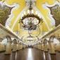 Fototapeta stacja metra komsomolskaja w moskwie, rosja