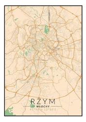 Rzym mapa kolorowa - plakat wymiar do wyboru: 60x80 cm