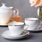 Zestaw kawowy dla 6 osób porcelana mariapaula moderna gold ze złotym zdobieniem 18 elementów