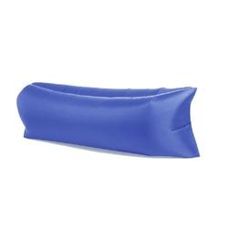 Lazy bag xxl ciemny niebieski air sofa materac leżak na powietrze