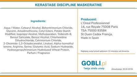 Keratine discipline maskeratine maska do każdego rodzaju włosów 500ml