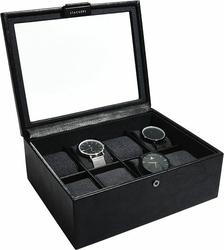 Pudełko na zegarki Stackers ośmiokomorowe czarne