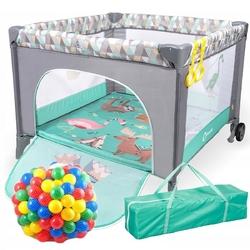 Lionelo stella  sofie turquoise scandi kojec dla dziecka + torba + materac + 62 piłeczki