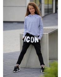 Czarne spodnie baggy icon