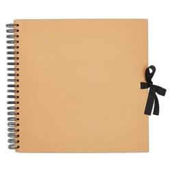 Album, baza do zdobienia 30,5x30,5 cm kraft 40 kart - brązowy