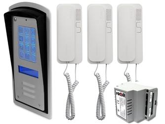 Zestaw 3-rodzinny panel domofonowy wielorodzinny z szyfratorem radbit brc10 mod