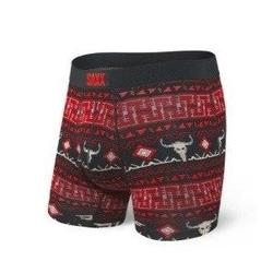 Bokserki męskie vibe boxer brief black story blanket - czerwony || czarny