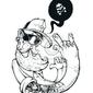 Naklejka ręcznie rysowane hipster