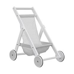 Drewniany wózek dla lalek kids concept - szary