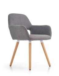 Krzesło z podłokietnikami selena szary