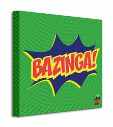 The Big Bang Theory Bazinga Icon - Obraz na płótnie