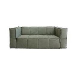 Hk living :: sofa tapicerowana cube 3-osobowa zielona