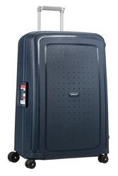 Walizka samsonite scure 69 cm granatowa paski - navy blue || navy blue stripes || blue