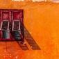 Włochy, predazzo okiennice - plakat premium wymiar do wyboru: 84,1x59,4 cm