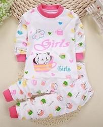 Bawełniana piżama dla dziewczynki z kotkami 0285