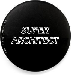 Przypinka czarna Badge Super Architect
