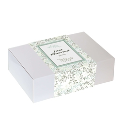 Zestaw prezentowy z okazji ślubu zapach miłości. herbata czarna 120g o czekoladowo wiśniowym smaku, limonkowy i szary kubek z zaparzaczem o wyjątkowym designie