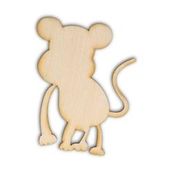 Drewniana ozdoba do rękodzieła - małpka - małpka