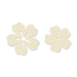 Filcowe kwiatki do rękodzieła - kremowe