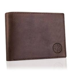Skórzany brązowy portfel męski rfid betlewski