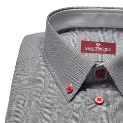 Elegancka koszula van thorn w kratkę księcia walii 48