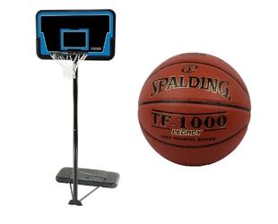 Zestaw kosz do koszykówki lifetime cleveland + piłka spalding tf-1000